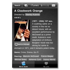Movie Guide for iPhone/iPod Touch